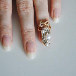 ❗️LAST ONE❗️ Fancy Fingernail Art Ring - Style #4