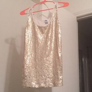 Gold tan sequin top from Old Navy