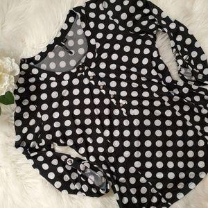 Black and White Polkadot Blouse