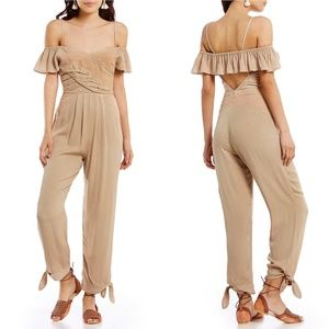 Free People In the Moment Off-the-Shoulder Jumpsui