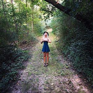 Evergreen mini dress