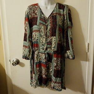 Mossimo Boho floral romper, size XL