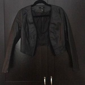 H&M Cropped Faux Leather Jacket