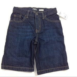 New Boys Osh Kosh Jean Denim Shorts Size 7R