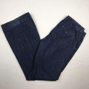 J.Crew Size 8 Womens Blue Boot Cut Jeans