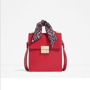 Zara Red cross body bag