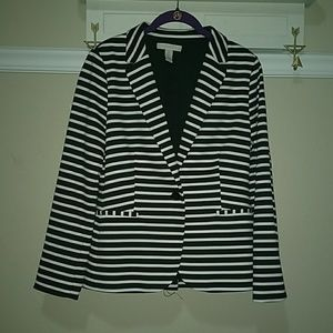 Chicos Black and White Blazer