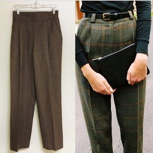 Vintage 80s Wool High Waisted Trousers