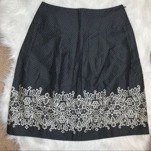 LOFT Printed Pleated Skirt