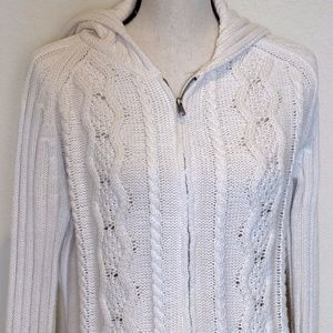 American Eagle Beige Cable Knit Sweater Size XL