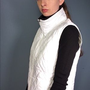 Nike White Quilted Vest Size L 12-14