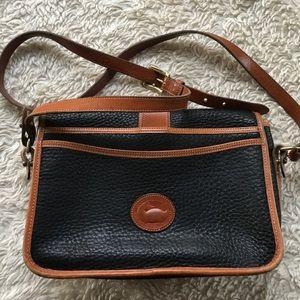 Dooney & Bourke Black/ Brown Leather Satchel