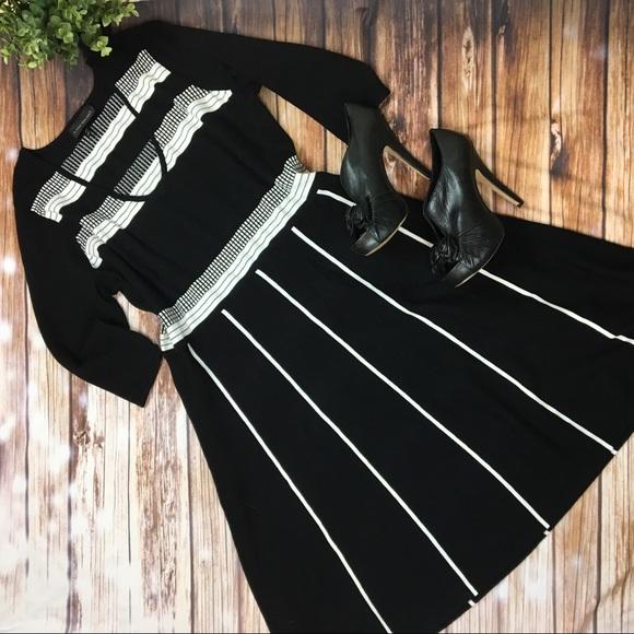 Lane Bryant Dresses Plus Size Black White Sweater Dress Poshmark