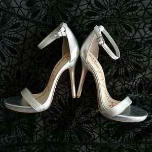 Sam Edelman Eleanor Silver Stilleto Heels Size 7