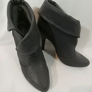 MAURICES Gray Heeled Bootie