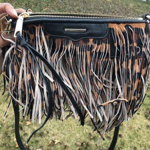 Rebecca Minkoff Finn Crossbody Leopard Fringe Bag