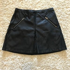 Abercrombie & Fitch Black Leather-Like Skirt