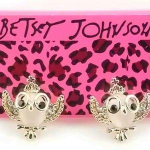 Betsy johnson owl earings