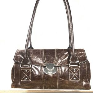 East 5th Brown Leather Satchel Bag