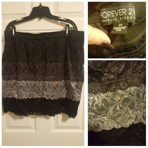 Forever 21 Plus Lace Skirt