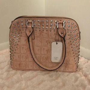 D'Orcia Pink Studded Satchel
