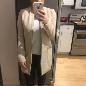 Like New Zara Fitted Coat Cream Jacket Style