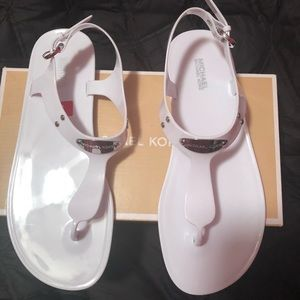 Michael Kors plate jelly optic white shoes