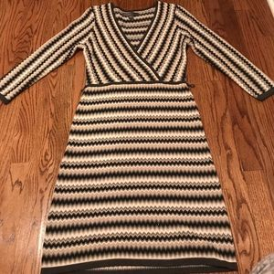 Donna Rocco chevron dress