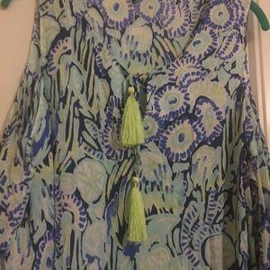 BENICIA OPEN SHOULDER TUNIC DRESS