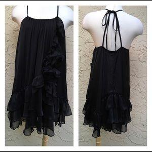 🎄Ryu Black Ruffles Mini Dress🌲