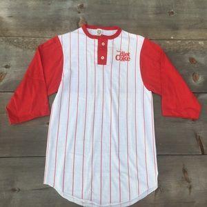 VTG 80's Diet Coke baseball shirt red/white SZ S