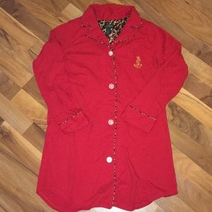 Red Ralph Lauren long sleeve nightgown - size M