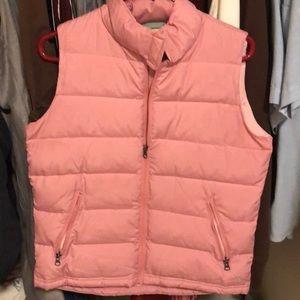 Baby pink puffer vest