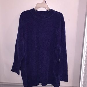 Gorgeous Navy Blue High Low Sweater