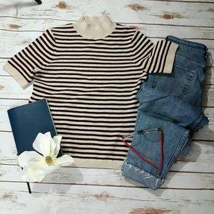 NWOT Loft  women's striped  sweater  XS