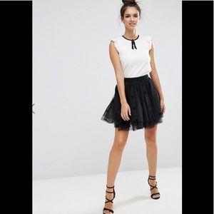 ASOS Mini Black Tulle Skirt 00