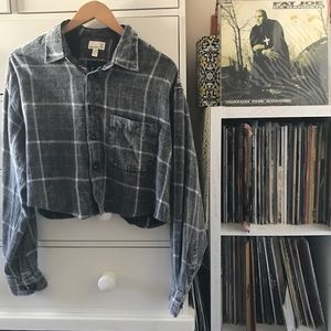 UO Renewal Cropped Flannel
