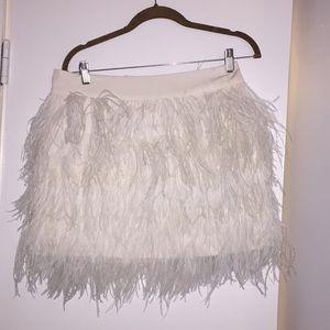 Club Monaco feather mini skirt