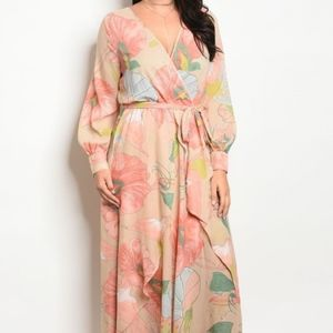 Plus Floaty Floral Maxi