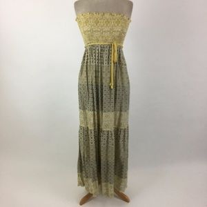 Guess strapless maxi dress