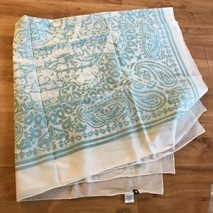 New Sperry Blue & White Paisley Print Scarf