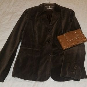Charter Club Suede Brown Blazer