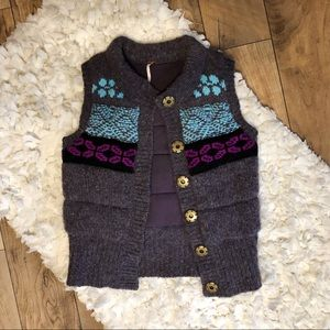 Free People Puffy Sweater Vest