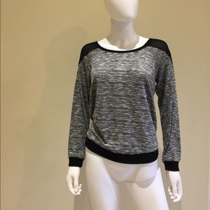 F21 sweater with sheer paneling on shoulders