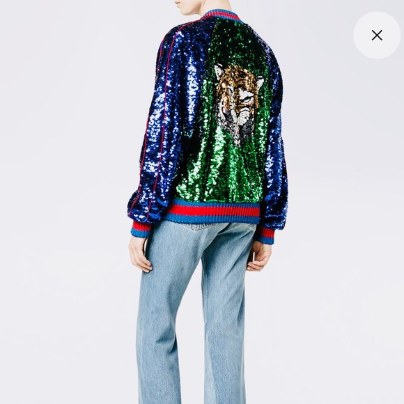 2e524b6b1 Gucci Jackets & Coats | Multicolor Sequin Bomber Jacket | Poshmark