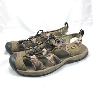 Keen Brown Camouflage Sport Sandal Men's Size 12
