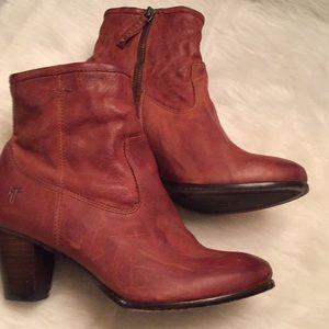 Frye Boots cognac color