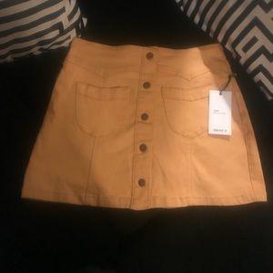 Forever 21 yellow denim skirt
