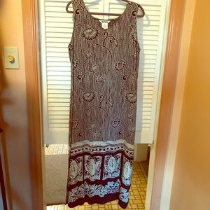 🎅 Nina Piccalino Women's Dress Maxi Sz L EUC!!