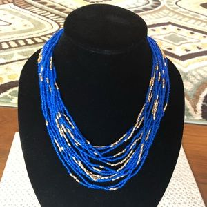 Blue statement necklace NWT